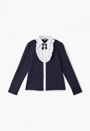 Блуза RionaKids Бриджит. Цвет: синий