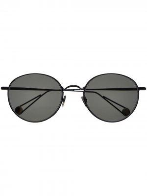 Солнцезащитные очки LÓpera в круглой оправе Ahlem. Цвет: черный