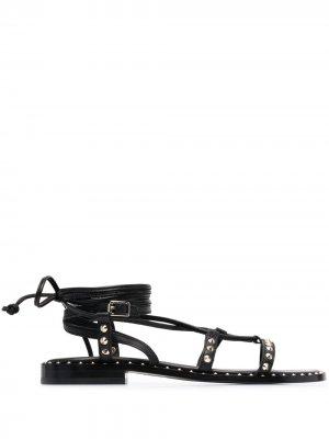 Босоножки Princess с завязками ASH. Цвет: черный