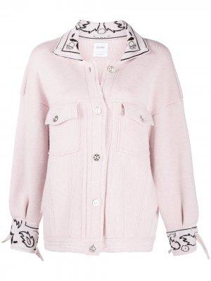 Куртка оверсайз с принтом Barrie. Цвет: розовый