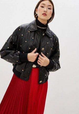 Куртка кожаная Escada Sport Lapearl. Цвет: черный