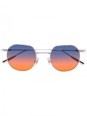 Солнцезащитные очки в круглой оправе Ambush. Цвет: синий