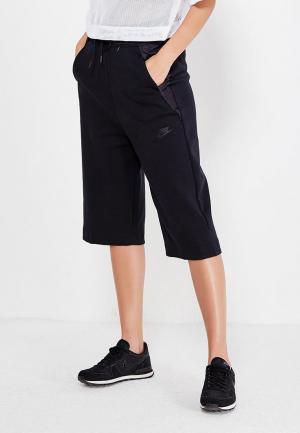 Бриджи Nike W NSW TCH FLC SHORT LONG. Цвет: черный