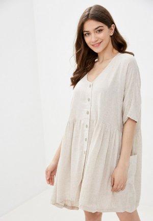 Платье Rip Curl MAREE DRESS. Цвет: бежевый
