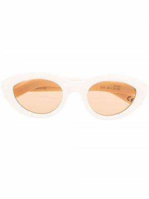 Солнцезащитные очки Cocca Retrosuperfuture. Цвет: белый
