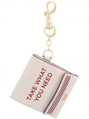 Брелок для ключей Anya Hindmarch. Цвет: нейтральные цвета