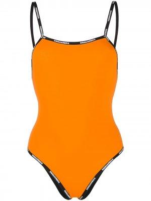 Двусторонний купальник Dsquared2. Цвет: оранжевый