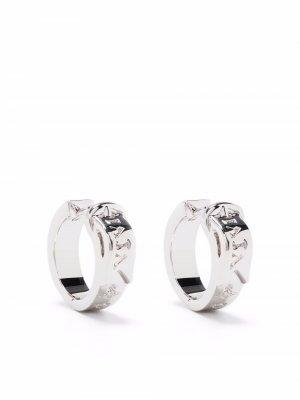 Серьги-кольца Bobby Vivienne Westwood. Цвет: серебристый