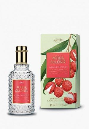 Одеколон 4711 Acqua Colonia Exhilarating – Lychee & Mint, 50 мл. Цвет: прозрачный
