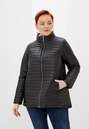 Куртка утепленная Очаровательная Адель. Цвет: черный