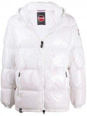 Стеганая куртка с принтом Colmar. Цвет: белый