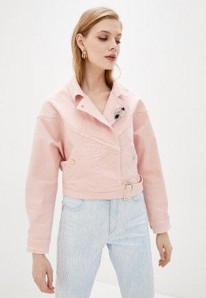 Куртка джинсовая Liu Jo. Цвет: розовый
