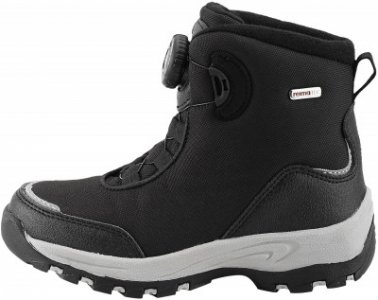 Ботинки утепленные для мальчиков , размер 35 Reima. Цвет: черный