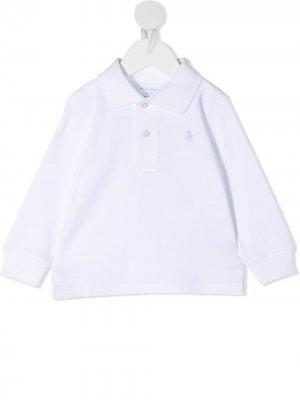 Рубашка поло Ralph Lauren Kids. Цвет: белый