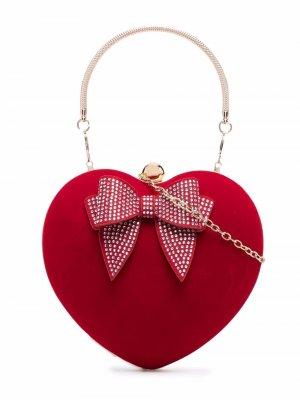 Heart shoulder bag Monnalisa. Цвет: красный