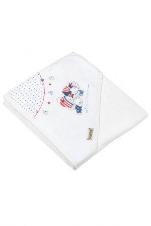 Банное полотенце с уголком BEBITOF BABY. Цвет: мультицвет