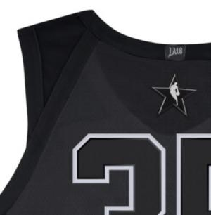 Мужское джерси Jordan НБА Kevin Durant All-Star Edition Authentic Jersey с технологией Connect Nike. Цвет: черный