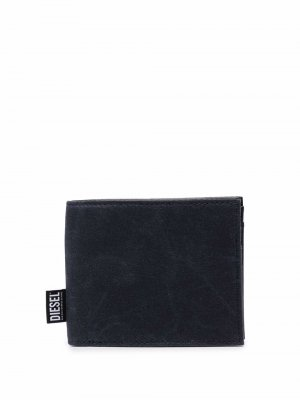 Бумажник с нашивкой-логотипом Diesel. Цвет: синий