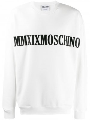 Толстовка с вышитой надписью Moschino