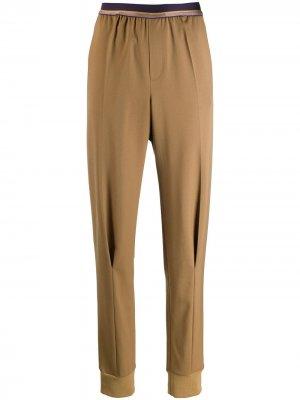 Строгие брюки кроя слим A.F.Vandevorst. Цвет: коричневый