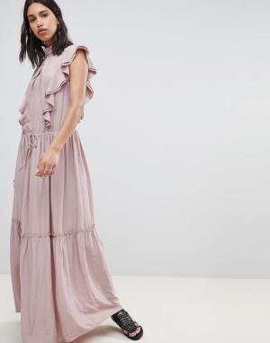 Платье макси Sofie Schnoor. Цвет: розовый