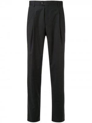 Прямые брюки с классической талией Gieves & Hawkes. Цвет: черный