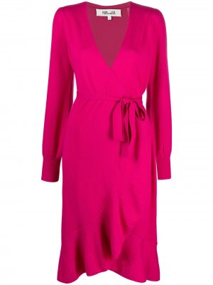 Платье с запахом DVF Diane von Furstenberg. Цвет: розовый