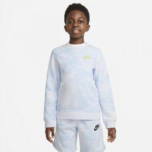 Свитшот с принтом тай-дай для мальчиков школьного возраста Sportswear Magic Club - Серый Nike
