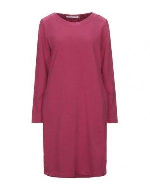 Платье до колена EUROPEAN CULTURE. Цвет: фуксия