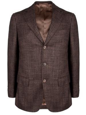 Шерстяной пиджак Castangia. Цвет: коричневый