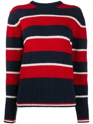 Полосатый пуловер свободного кроя Thom Browne