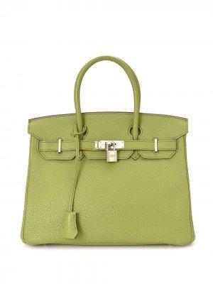 Сумка Birkin 30 pre-owned Hermès. Цвет: зеленый
