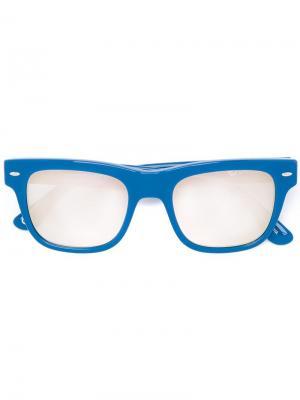 Солнцезащитные очки в квадратной оправе Italia Independent. Цвет: синий
