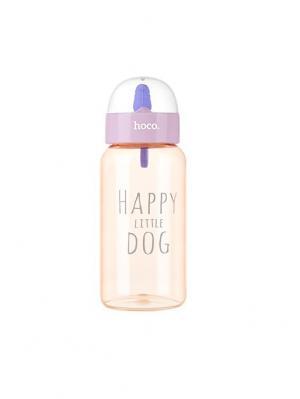 Пластитковая бутылка CP6 Pink Hoco. Цвет: розовый
