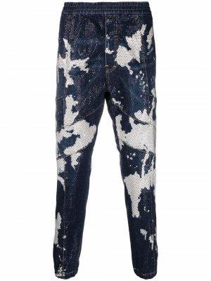 Зауженные джинсы с принтом тай-дай Dsquared2. Цвет: синий