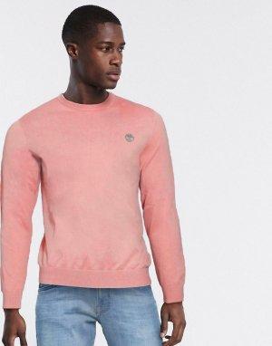 Джемпер с круглым вырезом -Розовый Timberland