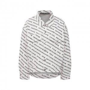 Джинсовая куртка Denim X Alexander Wang. Цвет: чёрно-белый