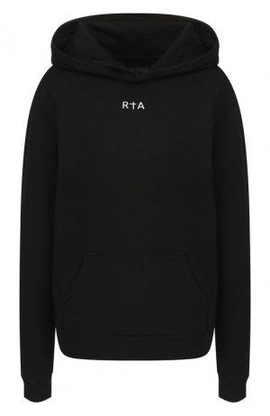 Хлопковое худи RTA. Цвет: черный
