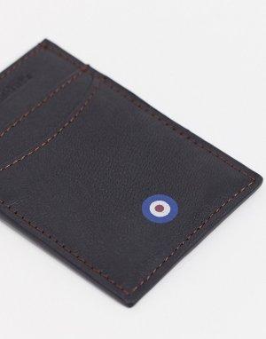 Кожаный кошелек для монет -Черный цвет Ben Sherman