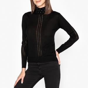 Пуловер с высоким воротником STING BERENICE. Цвет: черный