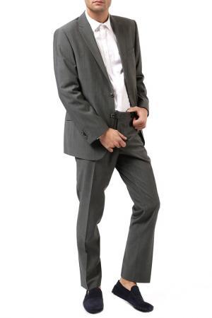 Костюм: брюки, пиджак STONES. Цвет: серый