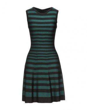 Короткое платье ALAÏA. Цвет: цвет морской волны