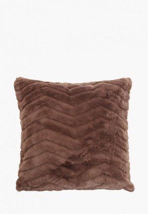 Наволочка декоративная Sofi De Marko 45х45 см.. Цвет: коричневый