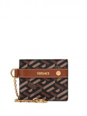Кошелек La Greca Versace. Цвет: коричневый