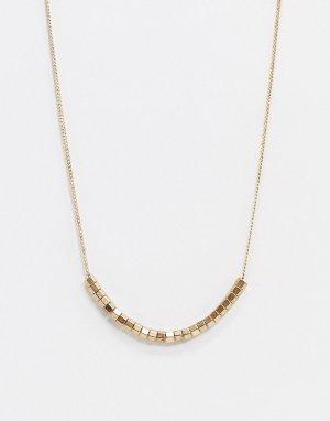 Золотистое ожерелье с подвеской -Золотой AllSaints