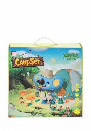 Набор игровой Givito для пикника детская игровая палатка Туриста 19 предметов. Цвет: разноцветный