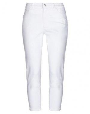 Джинсовые брюки-капри NINE:INTHE:MORNING. Цвет: слоновая кость