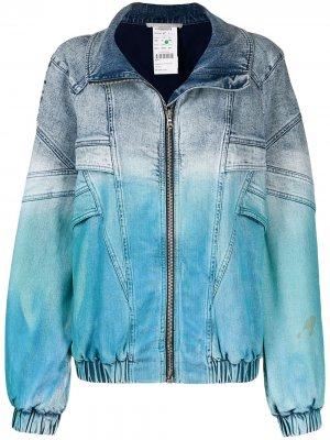 Джинсовая куртка с принтом тай-дай Stella McCartney. Цвет: синий