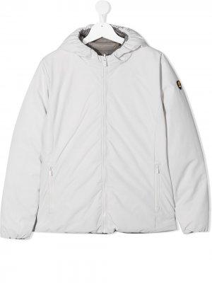 Двусторонняя куртка с капюшоном Ciesse Piumini Junior. Цвет: белый