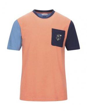 Футболка BAND OF OUTSIDERS. Цвет: лососево-розовый
